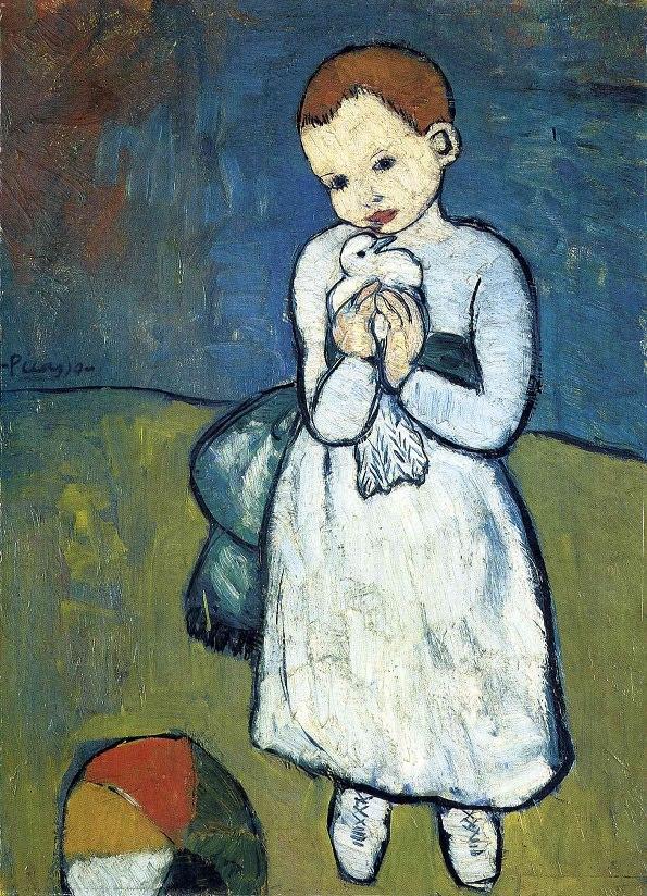 10-Pablo-Picasso-Bambina-con-Colomba-1901