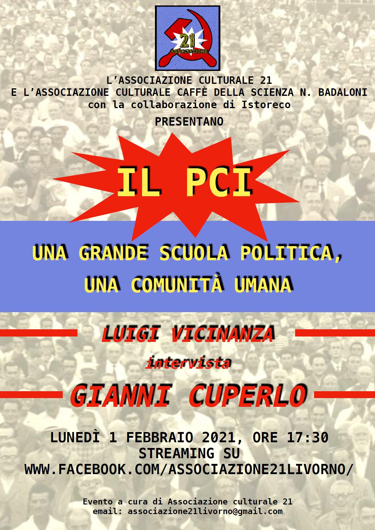 Dibattito con Cuperlo, Lunedì 1 Febb. 21.