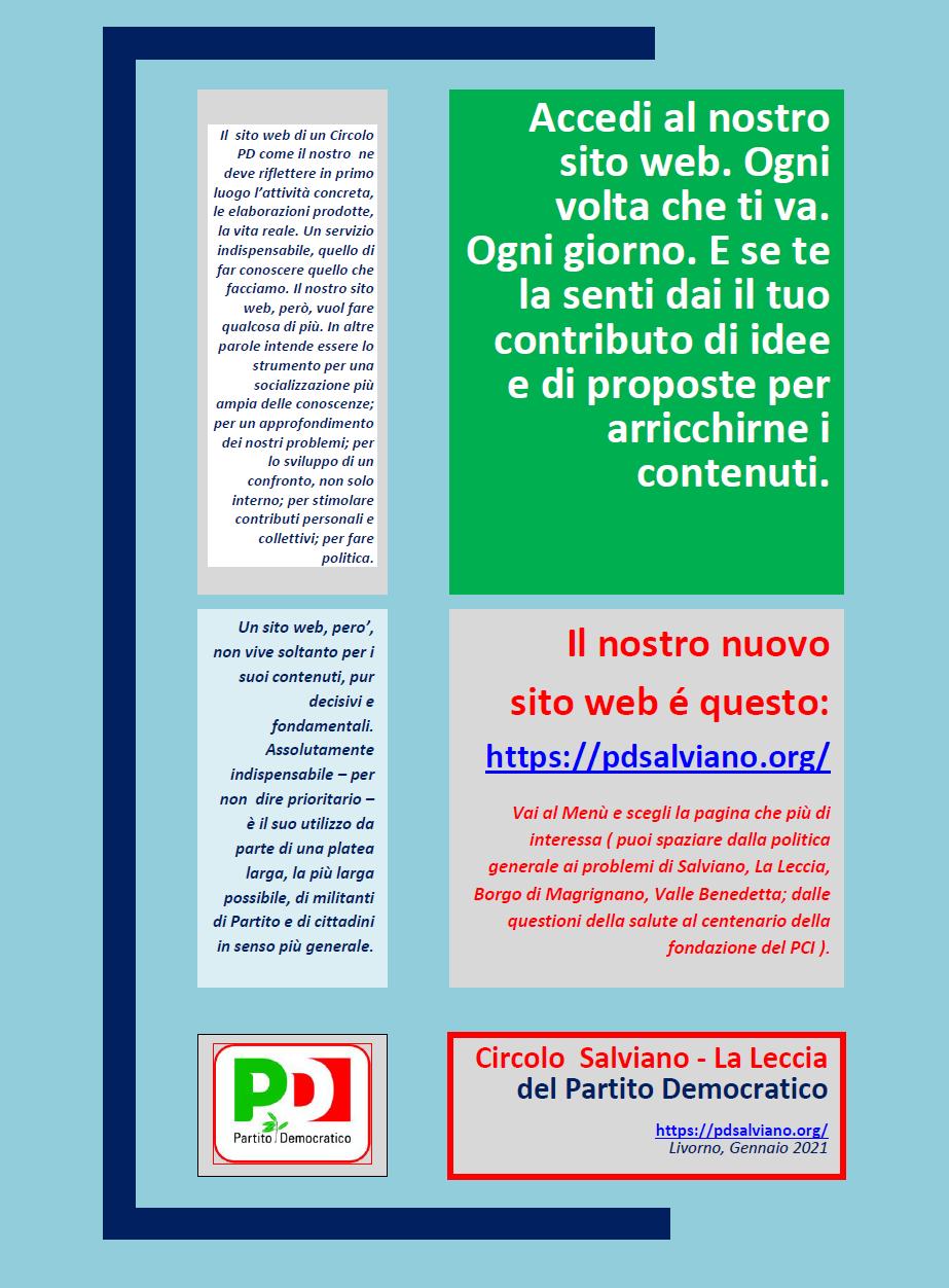 Volantino a sostegno del nostro sito web.
