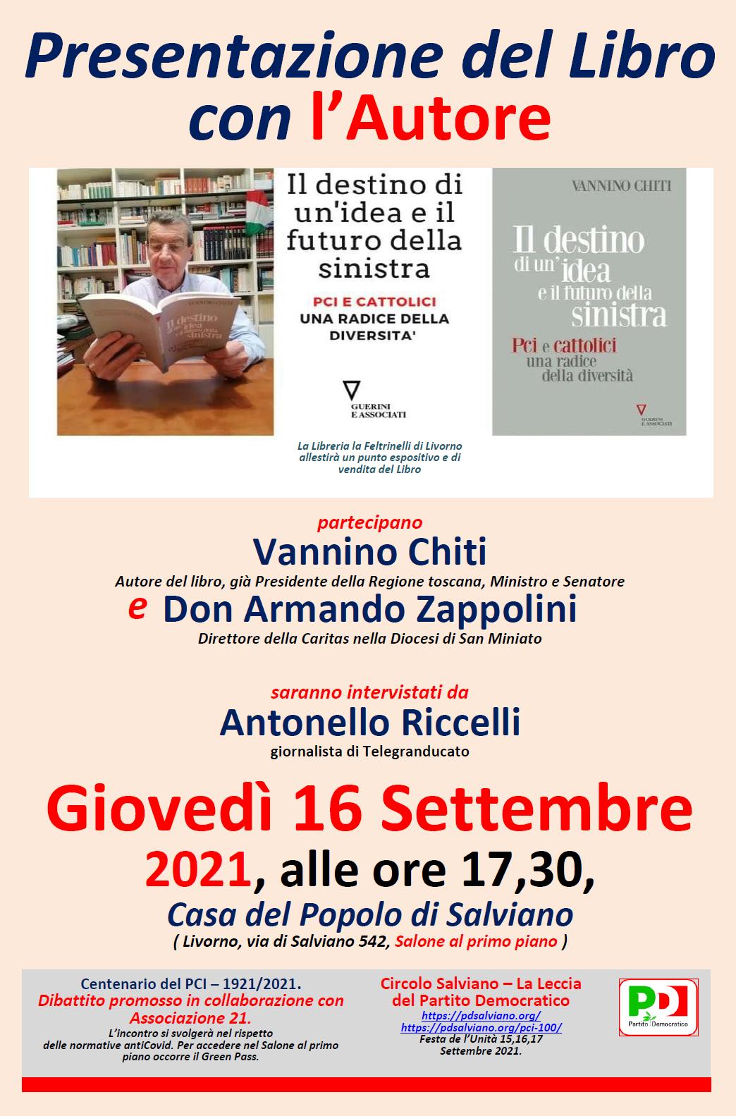 1. Dibattito con Chiti, 16 Settembre 2021.