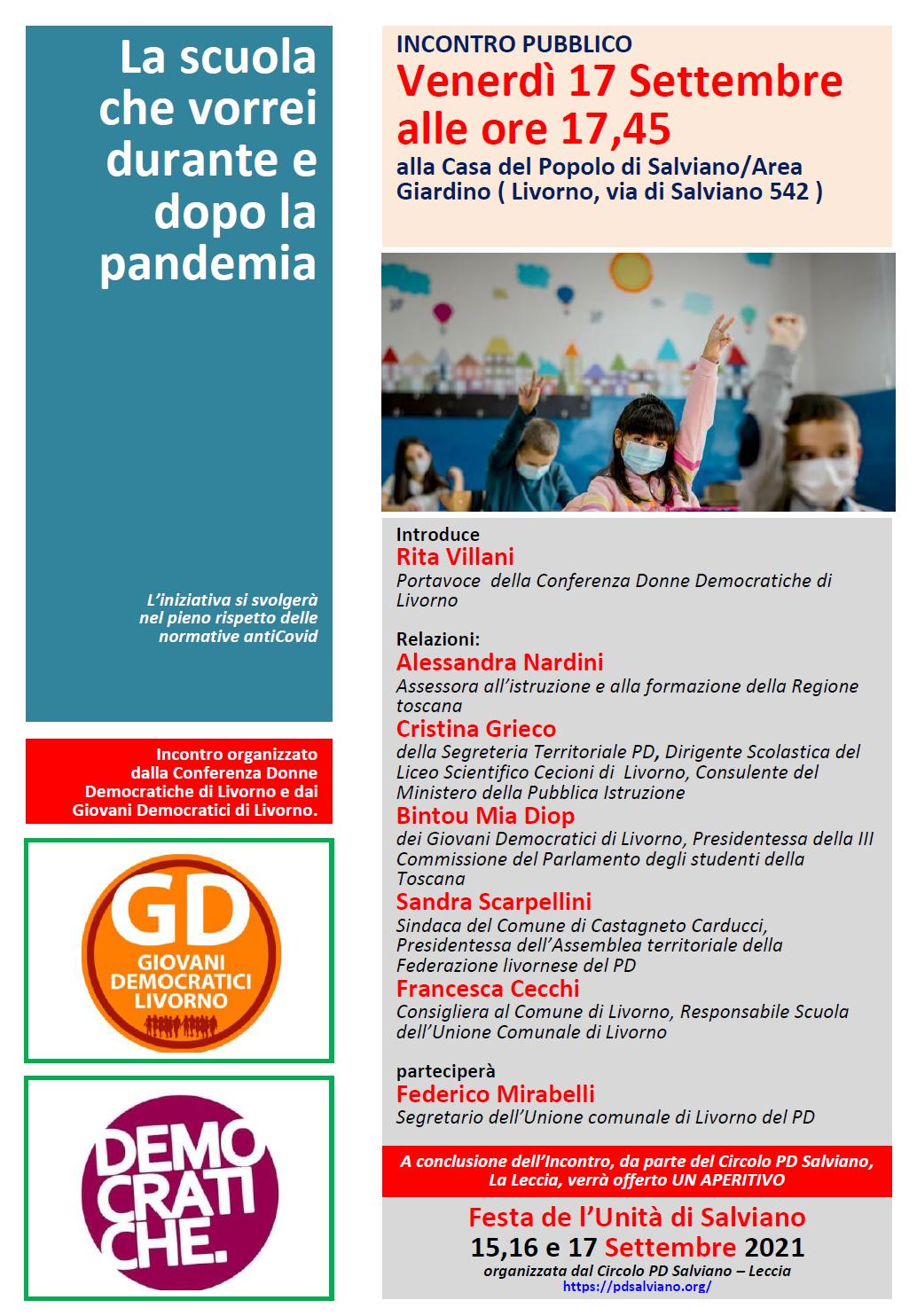 Conferenza donne, Dibattito sulla scuola del 17 Settembre